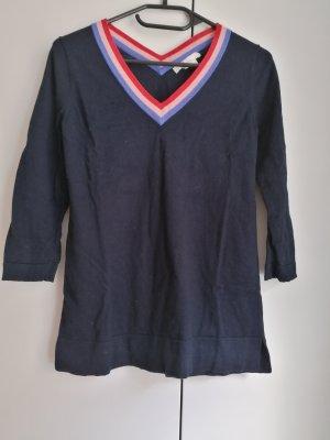 Boden Pullover Wollpullover Wolle blau XS 34 Darcie