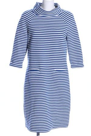 Boden Pulloverkleid weiß-blau Streifenmuster Casual-Look