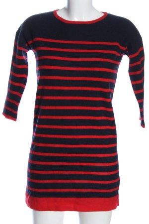Boden Pulloverkleid blau-rot Streifenmuster Casual-Look