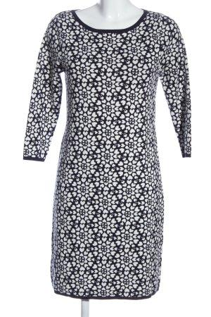 Boden Pulloverkleid weiß-schwarz Allover-Druck Elegant