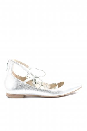 Boden Strappy Ballerinas silver-colored elegant