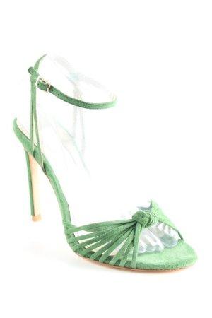 Boden Riemchenpumps waldgrün-silberfarben Elegant