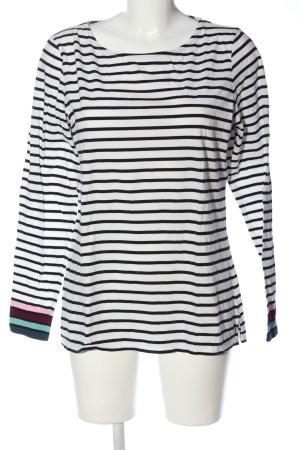 Boden Ringelshirt weiß-schwarz Streifenmuster Casual-Look