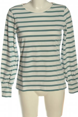 Boden Camisa de rayas blanco puro-turquesa estampado a rayas look casual