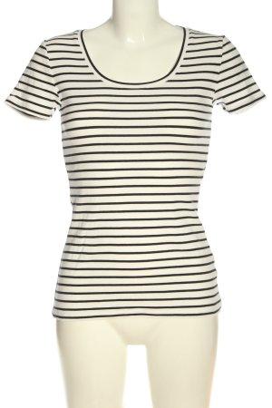 Boden Gestreept shirt wit-zwart volledige print casual uitstraling