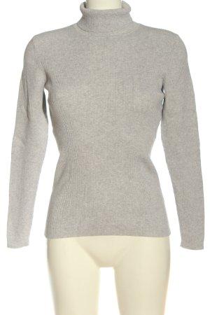 Boden Maglione dolcevita grigio chiaro puntinato stile casual
