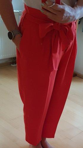 Boden Pantalon à pinces rouge viscose