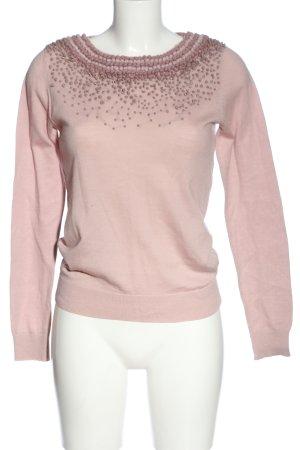 Boden Sweter z okrągłym dekoltem różowy W stylu casual