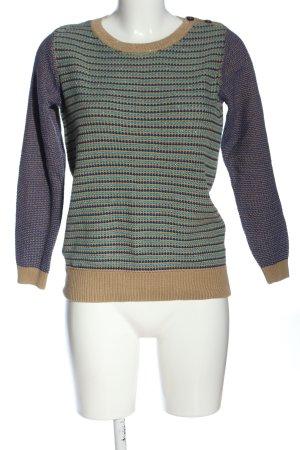 Boden Sweter z okrągłym dekoltem Wzór w paski W stylu casual