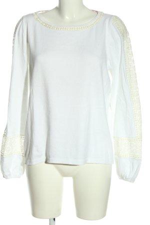 Boden Kraagloze sweater wit zakelijke stijl