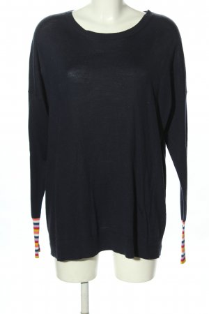 Boden Kraagloze sweater blauw casual uitstraling