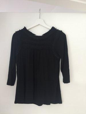 Boden Top taille empire noir coton