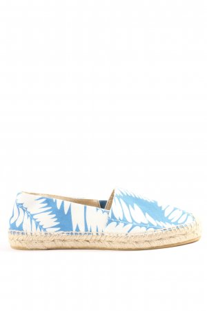 Boden Schlüpfschuhe weiß-blau abstraktes Muster Casual-Look