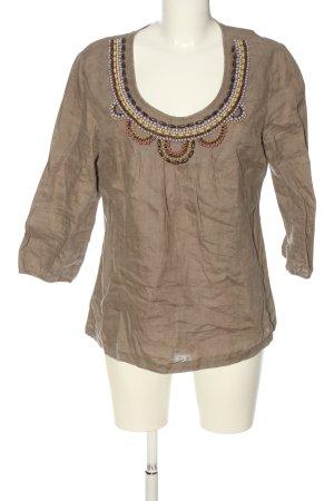 Boden Slip-over blouse bruin casual uitstraling