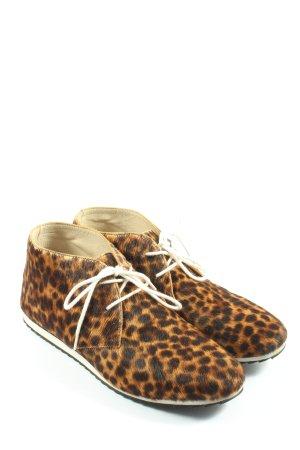 Boden Sznurowane buty jasny pomarańczowy-brązowy Wzór w lwa W stylu casual