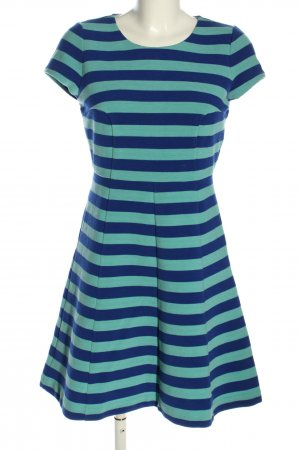 Boden A Line Dress blue-turquoise striped pattern casual look