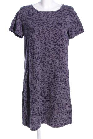 Boden Shirtkleid lila-hellgrau Allover-Druck Casual-Look