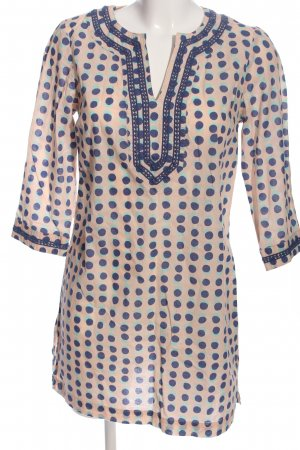 Boden Shirt Tunic natural white-blue spot pattern casual look