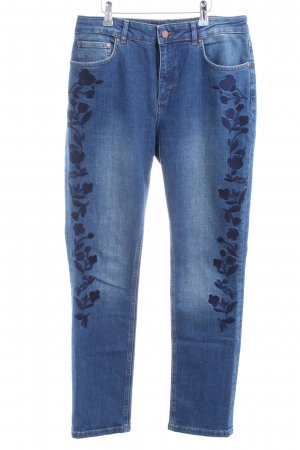 Boden Slim Jeans blue flower pattern casual look