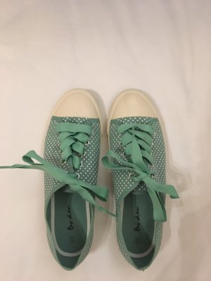 Boden Lace-Up Sneaker white-turquoise