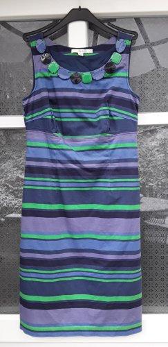 Boden Sommerkleid blau /LILA/ grün gestreift mit Dekoknöpfe Gr. 36