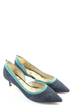 Boden Czółenka ze spiczastym noskiem niebieski-turkusowy W stylu casual
