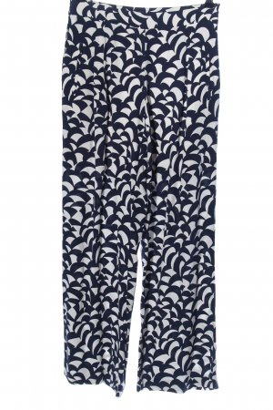 Boden Jersey Pants blue-white allover print casual look