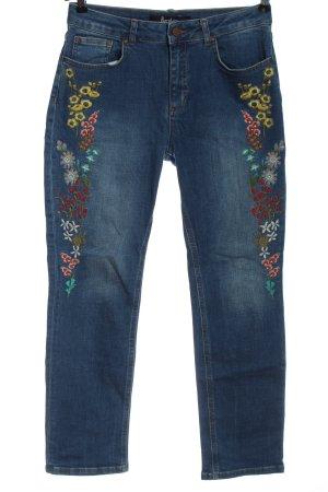 Boden Straight-Leg Jeans blau Schriftzug gestickt Casual-Look