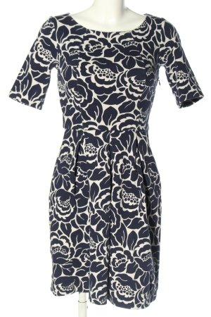 Boden Sukienka ze stretchu czarny-w kolorze białej wełny Na całej powierzchni