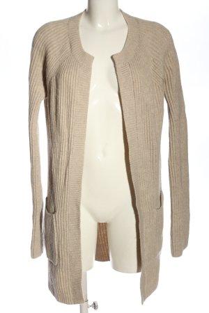 Boden Cardigan in maglia color carne punto treccia elegante