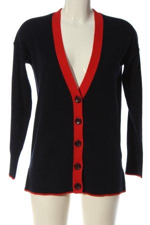 Boden Gebreide cardigan zwart-rood casual uitstraling