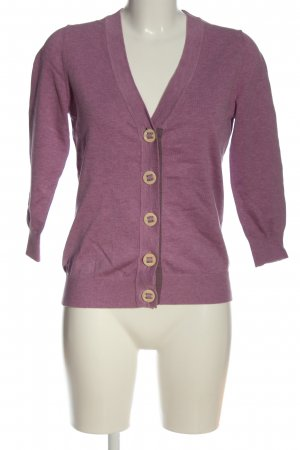 Boden Strick Cardigan lila Zopfmuster Casual-Look