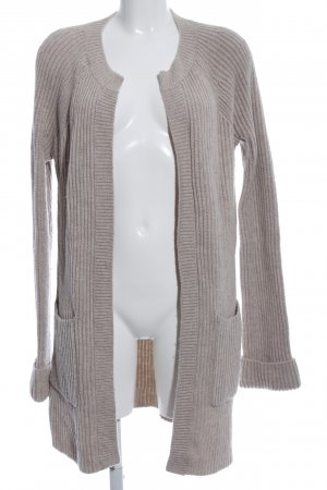 Boden Cardigan light grey cable stitch casual look