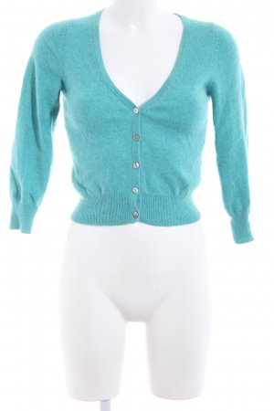 Boden Cardigan turquoise flecked casual look