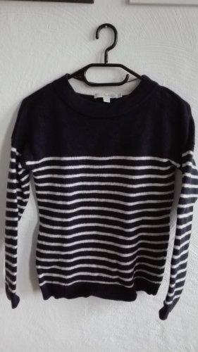 Boden Strickpullover Pullover gestreift UK6 XS 34 marine Wolle