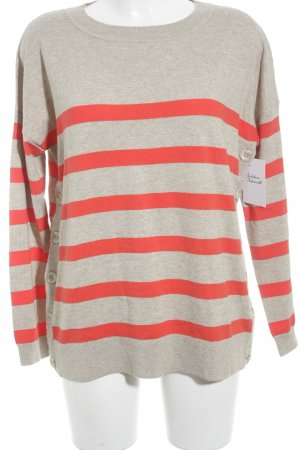 Boden Knitted Sweater sand brown-bright red wool