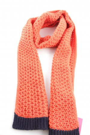Boden Knitted Scarf light orange cable stitch casual look