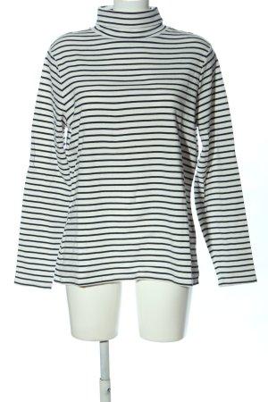 Boden Koszulka z dzianiny biały-czarny Wzór w paski W stylu casual