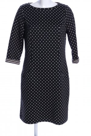 Boden Sweat Dress black-white spot pattern elegant