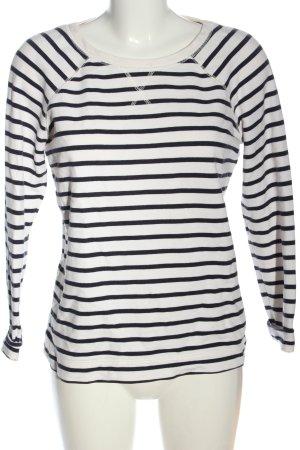 Boden Sweatshirt weiß-schwarz Allover-Druck Casual-Look