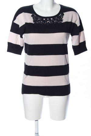 Boden T-Shirt schwarz-creme Streifenmuster Casual-Look