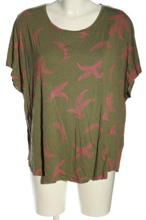 Boden T-Shirt khaki-pink Allover-Druck Casual-Look