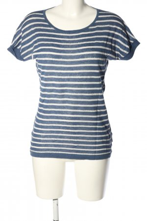 Boden T-shirt blu-bianco motivo a righe stile casual