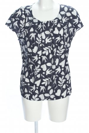 Boden T-Shirt schwarz-weiß Motivdruck Casual-Look