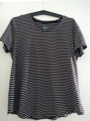 Boden T-Shirt schwarz weiß geringelt