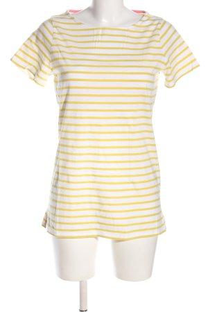 Boden T-Shirt Shirt Bretonschirt 40 L gestreift weiß gelb Streifenmuster Casual-Look