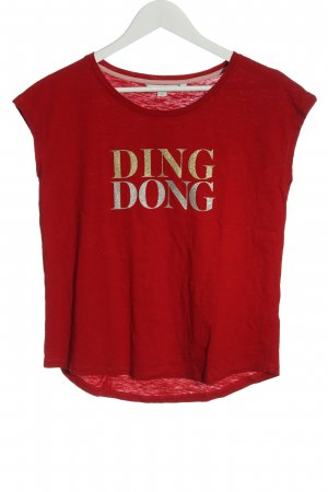 Boden Tank Top red printed lettering casual look