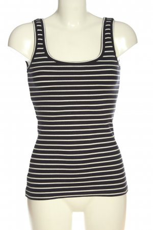 Boden Tank Top black-white striped pattern casual look