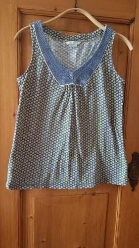 Boden Sleeveless Blouse yellow-blue