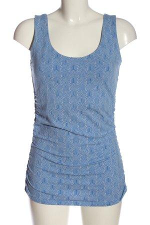 Boden Trägertop blau-weiß abstraktes Muster Casual-Look
